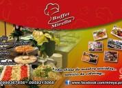 eventos y banquetes (buffet)