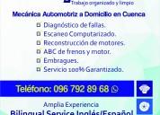 Mecánica a domicilio en cuenca 096.792.89.68