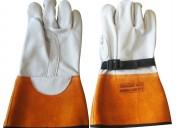protector de guantes de cuero sobre guantes dielÉctricos