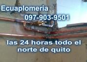 Todo el norte de quito plomero en cobre plomeria en general 0979039501