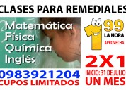 Aprovecha clases para os remediales