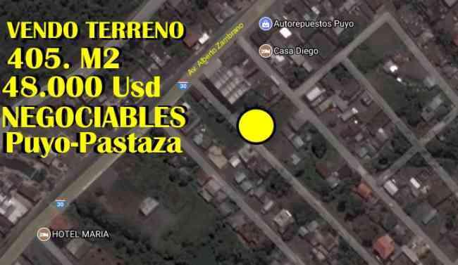 HERMOSO TERRENO EN EL PUYO VENTAS AL 0994777363