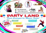 Party land diseño, organización y animación de fiestas infantiles y hora loca.