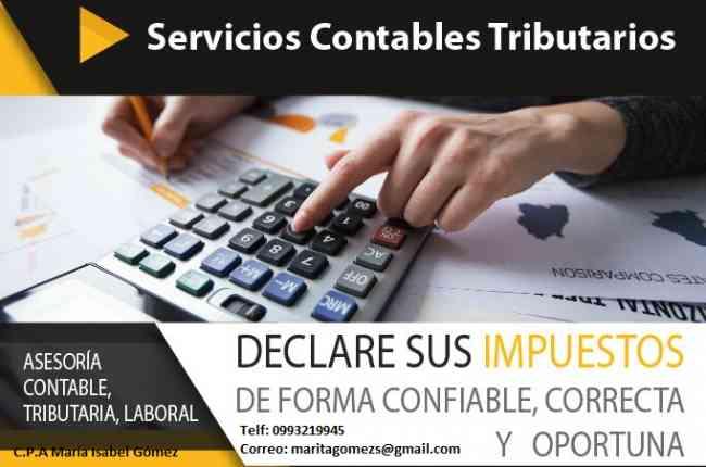 Sus impuestos siempre al día!!! Servicio Contable Tributario