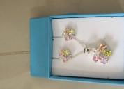 Juegos de collar y aretes de plata garantizada