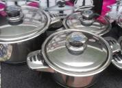 Impresionante juego de ollas de acero quirÚrgico alemÁn