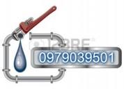 Atencion inmediato plomero en cobre 0979039501 plomeria en general