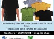 Camisetas por mayor toda talla todo color