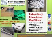 Cubiertas y estructuras en ecuador