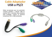 Cable adapatador usb a ps/2