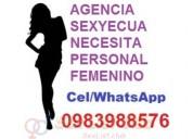 Deseas trabajar agencia sexyecua 0983988576