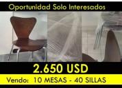 Nuevas y lujosas sillas y mesas de venta en quito