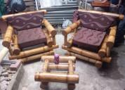 vendo este juego de mueble de bambu recien hecho en 300 usd