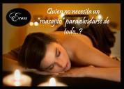 Exclusivo servicio de masajes antiestrés y tántricos sensitivos para damas..!