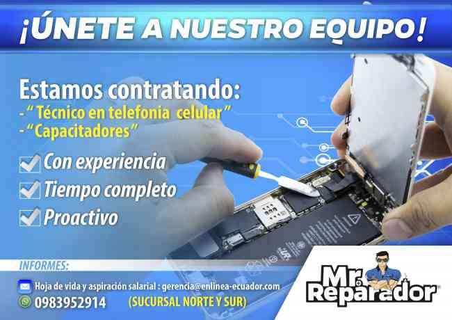 MR. REPARADOR BUSCA TÉCNICO / INSTRUCTOR  ¡¡ ÚNETE A NUESTRO EQUIPO !!