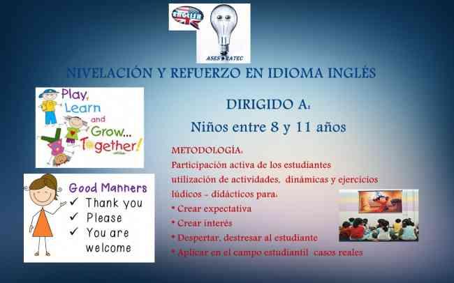 CLASES PERSONALIZADAS DE IDIOMA INGLÉS - AsesoraTec