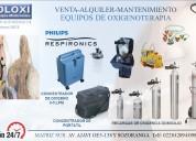 Oxigeno medicinal venta alquiler mantenimiento atencion 24horas