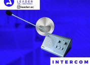 Intercomunicadores de ventanillas - micrófono ventanilla - leader