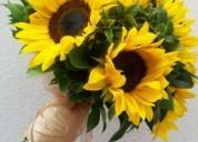 Arreglos con girasoles de todo tamaño y precio se entrega a domicilio florería