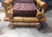 vendo este juego de mueble de bambu recie hecho en 300 negociable