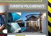 Policarbonato cubiertas patios- fachadas-parqueos