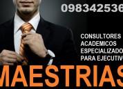 Consultores academicos especializados en maestrias y doctorados