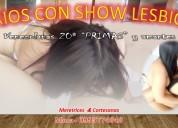 Las primas en un show de sexo en vivo con trio mhm al final