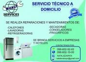 Servicio tecnico y reparacion de calefones y cocinas, lavadores y refrigeradoras y linea blanca
