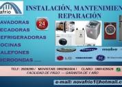 InstalaciÓn, reparaciÓn y mantenimiento de secadoras lavadoras microondas