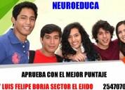 Preuniversitario neuroeduca, ingresa a la universidad con exito.