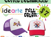 Gorras sublimadas - full color