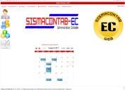 Sistema contable administrativo sismacontab-ec ambiente web