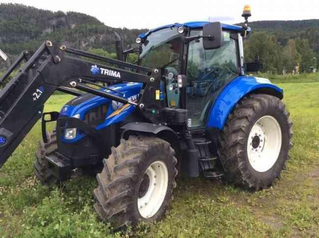 Tractor New Holland T5.105 con cargador