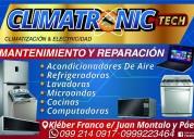 Servicio tecnico de lavadoras, refrigeradoras y splits