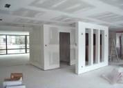 Servicio instalacion reparacion mantenimiento gypsum cielo raso techo paredes diviciones