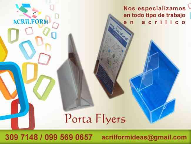 Elementos en acrílico, cajas, porta flyers, ánforas, habladores, exhibidores, diseñados en acríl
