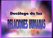 Cursos, seminarios, conferencias, charlas, motivacionales, relaciones humanas.