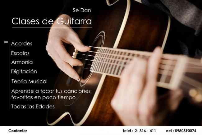 CLASES DE GUITARRA, CURSOS DE GUITARRA