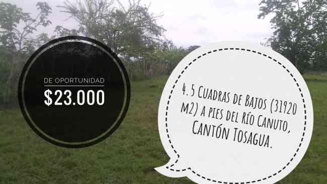 ¡De Oportunidad! 4.5 Cuadras de Bajos en Tosagua