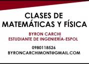Clases de matemÁticas y fÍsica estudiante politÉcnico