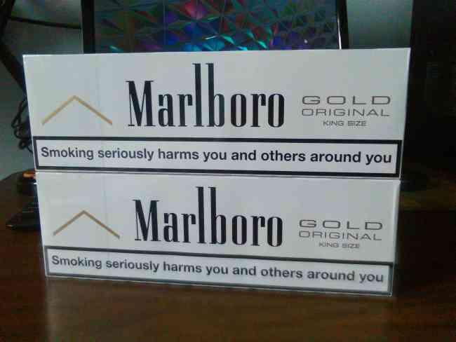 Pacas de Cigarrillos Diferentes Marcas