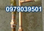24hrs plomero en cobre plomeria en genara 097 9039501 todo el norte de quito