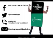 publicidad human banners / hombre valla