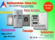 Instalaciones, mantenimientos, reparaciones, venta de repuestos a/c & línea blanca