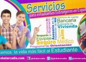 Servicios para estudiante extranjero en españa