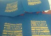 Bolsos ecologicos en cambrella impresos $1