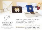 Presagio | invitaciones de matrimonio y para todo compromiso social