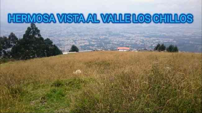 Terreno con hermosa vista al Valle de los Chillos