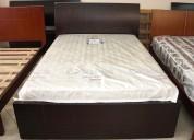Vendo hermosa cama de madera fina- nueva- dos plazas