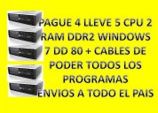 Lote de 5 cpu ddr2/4 sata/ 2 gigas de ram windows 7